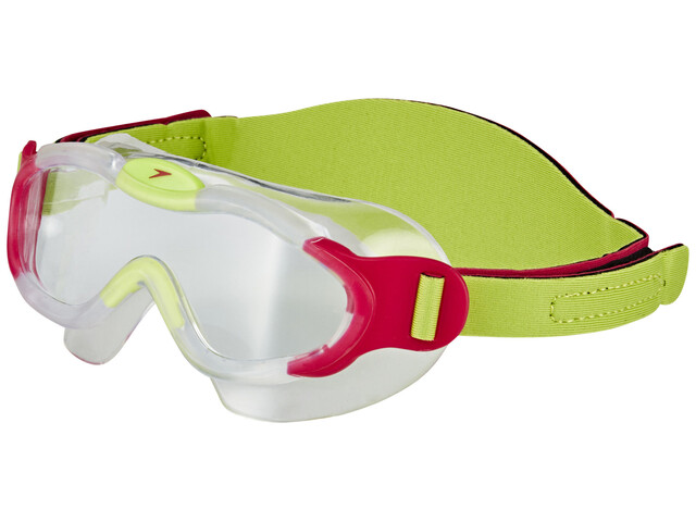 speedo Biofuse Sea Squad Mask Juniors Passion Pink/Hydro Green